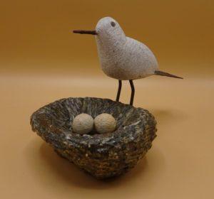Fairtrade Cadeauwinkel vogel van steen