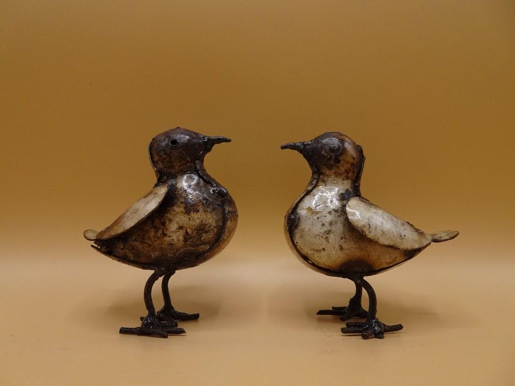 Eerlijk & Werelds vogel gerecycled staal