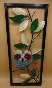 Fairtrade Cadeauwinkel wanddecoratie uil