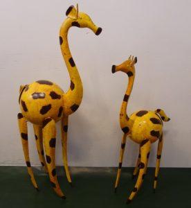 Fairtrade Cadeauwinkel gerecycled staal giraf