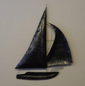 Fairtrade Cadeauwinkel wanddecoratie zeilboot
