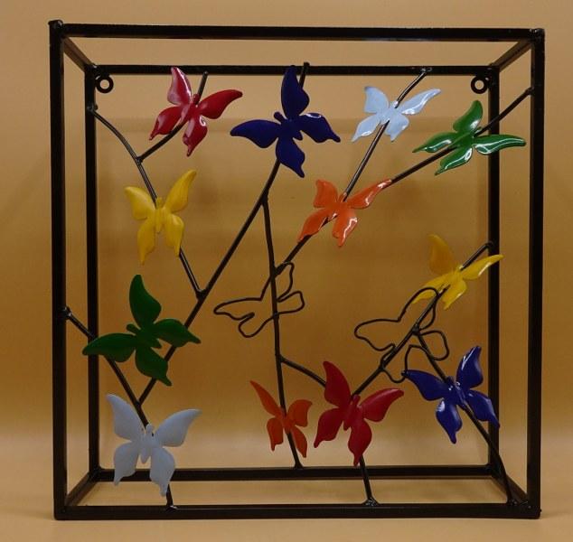 Fairtrade Cadeauwinkel wanddecoratie scrapmetal vlinder