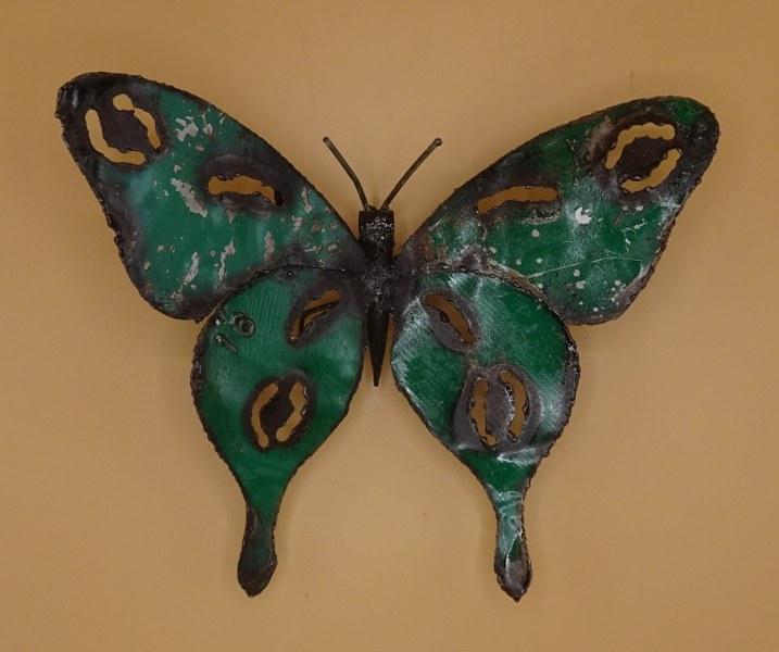 Fairtrade Cadeauwinkel tuindecoratie vlinder scrapmetal