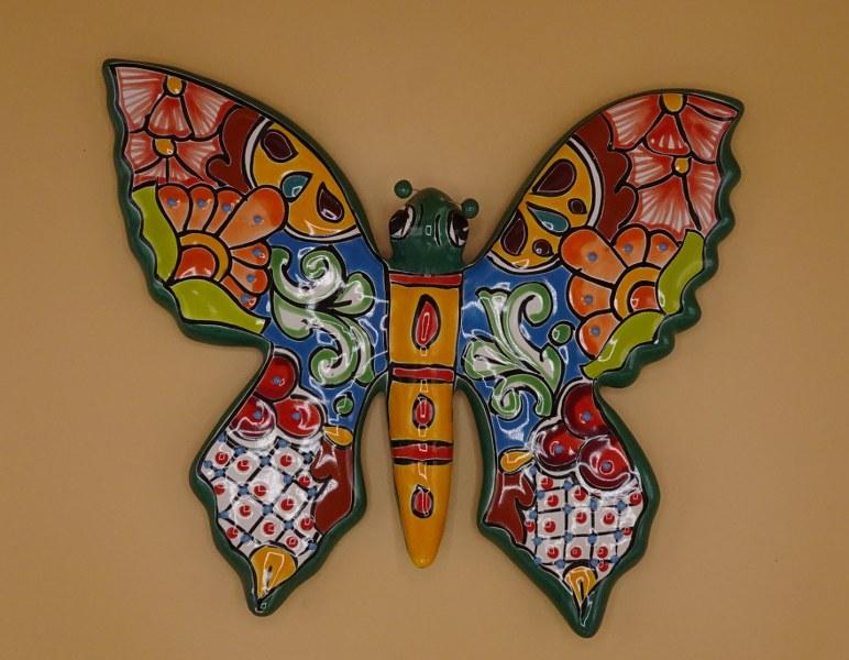 Eerlijk & Werelds keramiek vlinder mexico