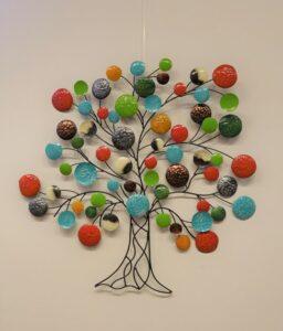 Eerlijk & Werelds wanddecoratie boom