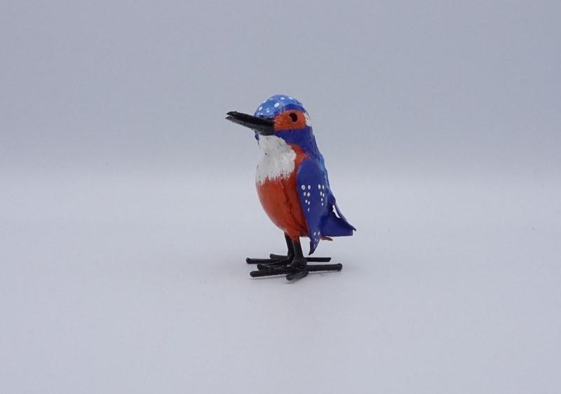 Eerlijk & Werelds ijsvogel gerecycled metaal