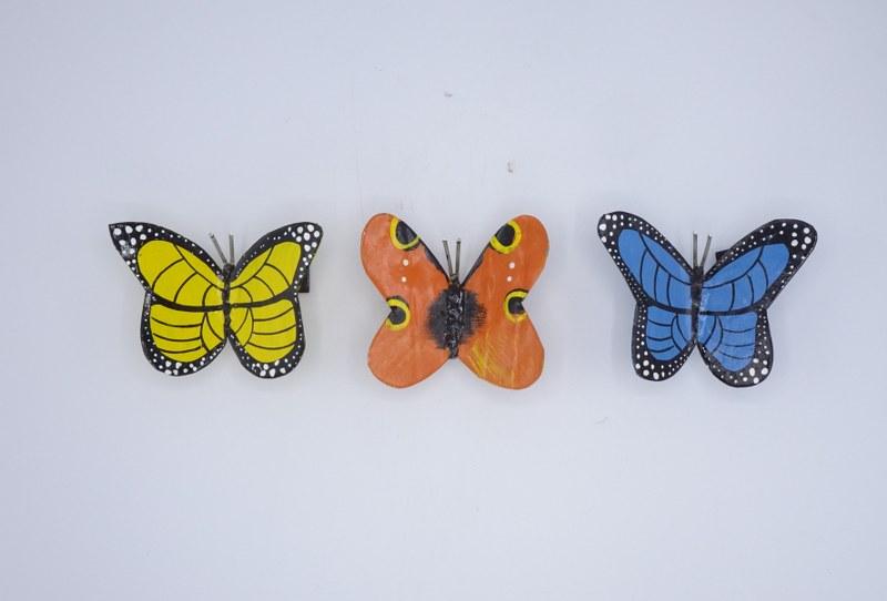 Eerlijk & Werelds scrabmetal vlinder