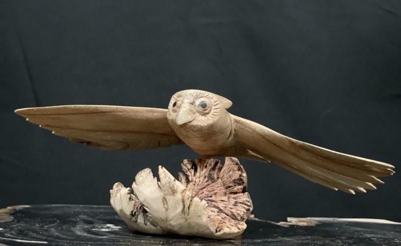 Eerlijk & Werelds houten uil vliegend