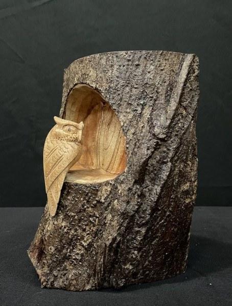 Eerlijk & Werelds houten uil