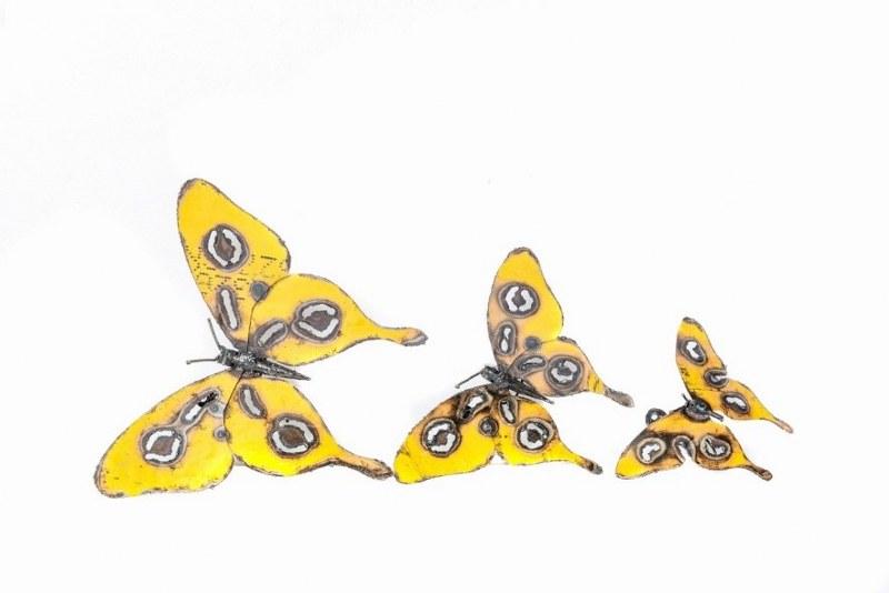 Eerlijk & Werelds scrab metal vlinders geel