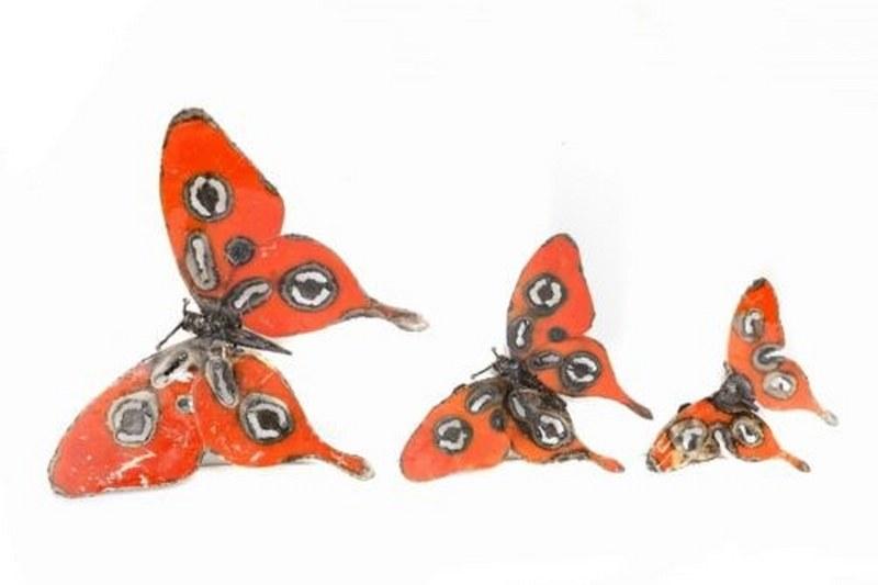 Eerlijk & Werelds scrab metal vlinders rood