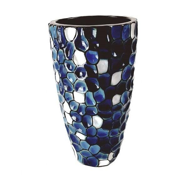 Eerlijk & Werelds vaas blauw